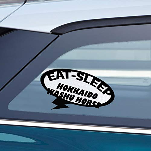 EAT SLEEP HOKKAIDO WASHU HORSE Horse Horses Car Laptop Wall Sticker Decal - 3.5'by6'(Small) or 5'by9'(Large)
