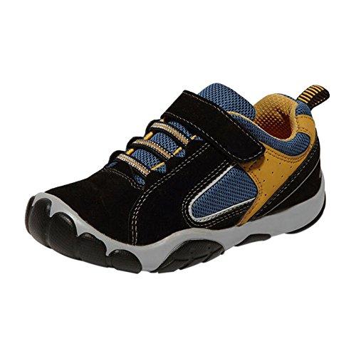 Haodasi Kinder Kids Jungen Frühling Sport Schuhe Casual Breathable Mesh Oberfläche Turnschuhe Black