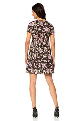 Laura Scott Damen-Kleid Kleid mit Blütenmuster Braun Größe 36