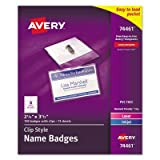 Name Badges,w/Clip,Side Load,2-1/4 quot;x3-1/2