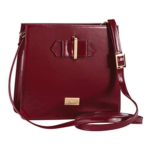 Brunello Italian Wine - Stauer Women's Brunello Specchio Italian Leather Cross Body Bag