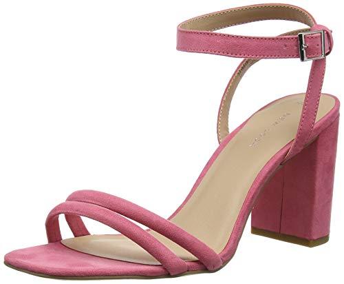 Con Pink New Para Bright Sandalias Wolfy Punta Abierta Mujer Look 76 HTw5BPqnw
