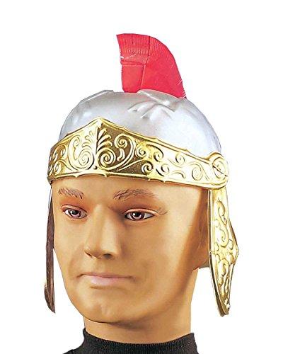 [Adult Gold Silver Roman Trojan Gladiator Costume Helmet] (Trojan Man Costumes)