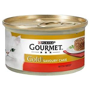 Gourmet Lata de Comida húmeda para Gatos Adultos Gold, Sabor Savoury Cake, 85 g, Paquete de 12 Unidades