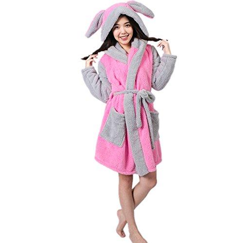 Missley Panda Bademantel Warm Cosplay Bademantel Nachthemd Pyjamas Tier Cosplay Für Mädchen (M, rabbit)