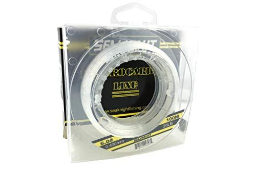 CiGuru FL003L1S6 100% Pure Fluorocarbon Coated Monofilament Carp Wire Fluorocarbon Fishing Line Quick Sink Line - 100m - 25lb - Transparent