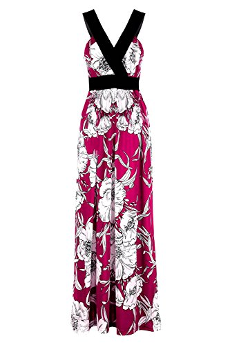 G2 Chic Women's Spring & Summer Casual Printed Maxi Dress(DRS-MAX,PPLA6-L)