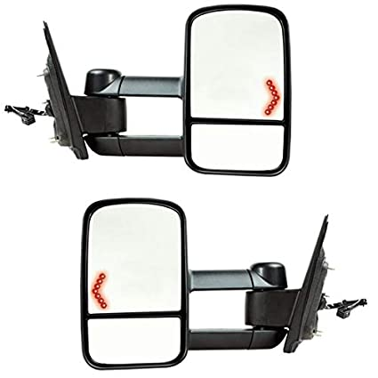 Sierra Pickup Truck Manual Telescopic Fold 2-Arm Tow Mirror Right Passenger Side