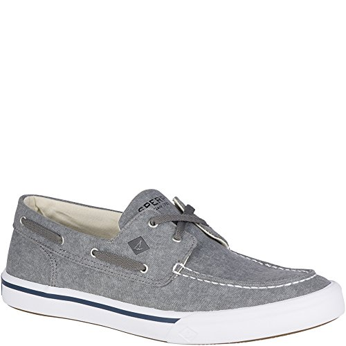 Sperry Top-Sider Men's Bahama II Boat Washed Sneaker, Grey, 13 Medium US (Top Sperry Boat Sider)