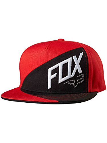 Fox Men's Flat Bill Snapback Hat, Flame Red3, One Size