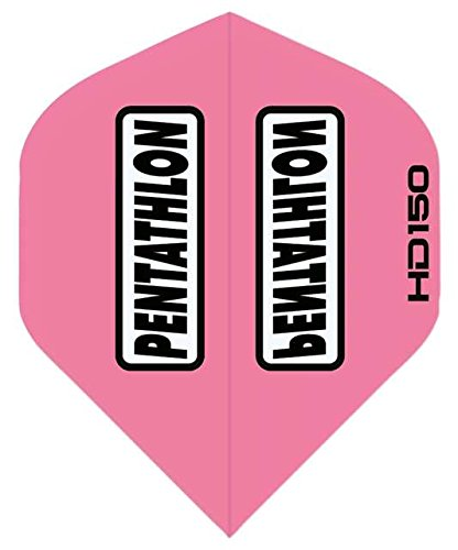 (3 Sets of Standard Size Pentathlon HD150 Dart Flights Pink)