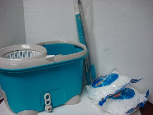 360° easy life Spin Rotate Magic Mop & Bucket & 2 Heads as seen on tv No Foot Pedal