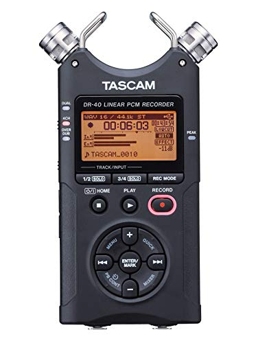 - Tascam DR-40 4-Track Portable Digital Audio Recorder