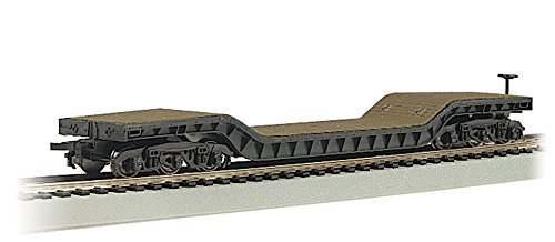 Bachmann Industries Inc. 52' Center-Depressed Flat-Car with No Load - N Scale Depressed Center Flat Car