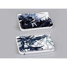 Nintendo 3DS XL BLACK ROCK SHOOTER Protective Vinyl Skin Decal Set