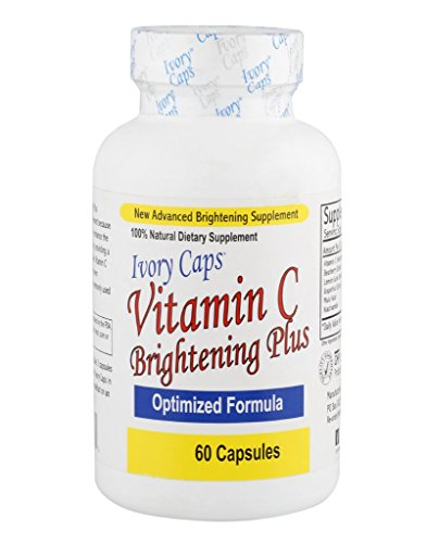IvoryCaps Ivory Caps Vitamin C Skin Brightening Plus Skin Whitening Lightening Pills 100% Natural , No Side Affects
