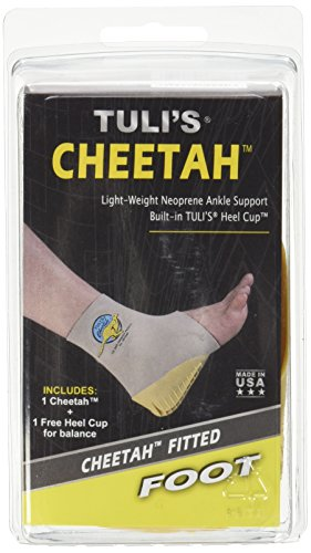 """Tuli's Cheetah Heel Protector - Fitted Ankle Support for Gymnasts and Dancers - XS (Up to 7.5"""")"""