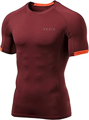 Tesla Mens Cool Dry Compression Baselayer Short Sleeve T Shirts MUB13/MUB23