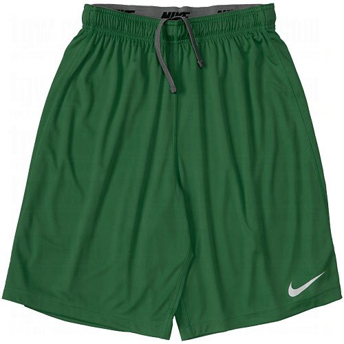 Nike Team Fly 10 Shorts (Large, (Nike Green Training Shorts)