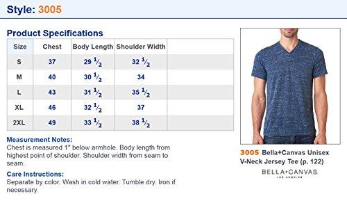 Bella+Canvas Taped Shoulders Ring Spun T-Shirt, Asphalt Slub, Large
