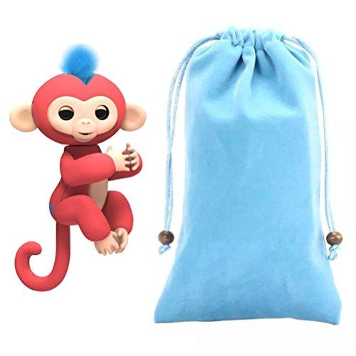 Price comparison product image For Fingerlings Monkey,Sunfei Dolls Portable Kids Play Storage Bag Toys Rug Box For Fingerlings Monkey (Blue)