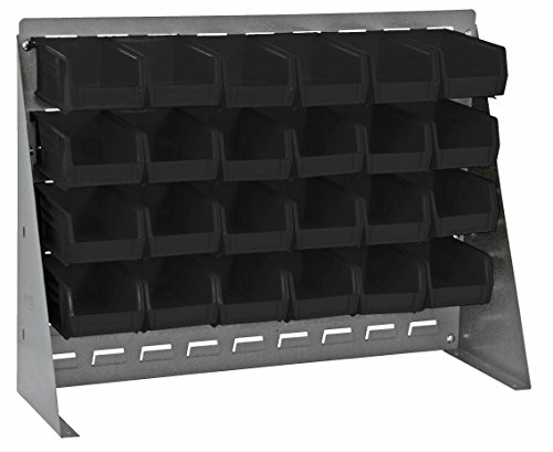Quantum Storage Systems QBR-2721-210-24BK Ultra Bin Complete Bench Rack Package with 24 Ultra Bins, 27