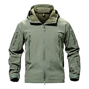 MAGCOMSEN Men's Waterproof Tactical Jackets Winter Outdoor Camouflage Softshell Jack