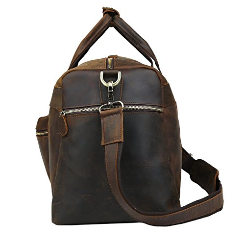 Polare 23'' Duffle Retro Thick Cowhide Leather Weekender Travel Duffel luggage Bag by Polare (Image #7)