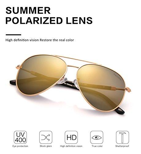 Bemkia US503 metal Aviator 60 9 de 9 marco 60 para gold UV400 sol 503 mujer lento Gafas mm gold polarizadas 9 de 503 P6pwrPI