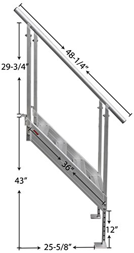 Extreme Max 3005 3843 Universal Mount Aluminum Dock Stairs-4 Step