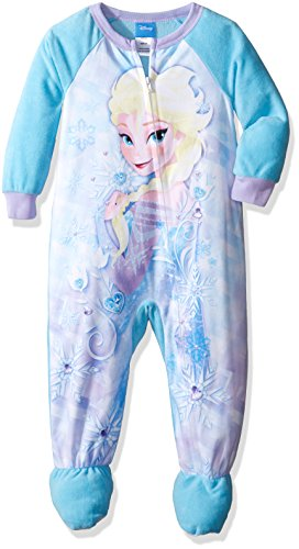 Disney Little Girls' Toddler Frozen Elsa Fleece Footed - Frozen Footed Pajamas 2t
