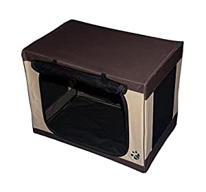 Pet Gear Travel Lite Soft Crate for Cats and Dogs up to 50-pounds, 30-inches, Pet Crate, Sahara