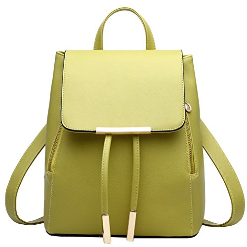 Backpack Black Green Travel Women's Shoulder Casual Bag Vusum YqtHUw0