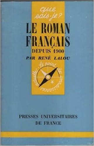 Livres gratuits Le roman francais depuis 1900 pdf