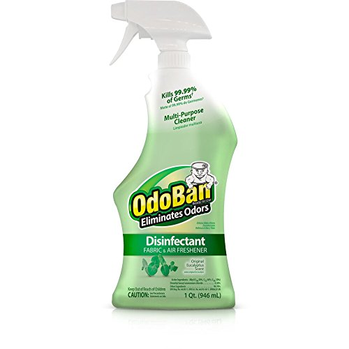 OdoBan Disinfectant Odor Eliminator and All Purpose Cleaner, 32 oz Spray and 1/2 Gallon Concentrate, Original Eucalyptus, Plus Solid Odor Absorber by OdoBan (Image #1)