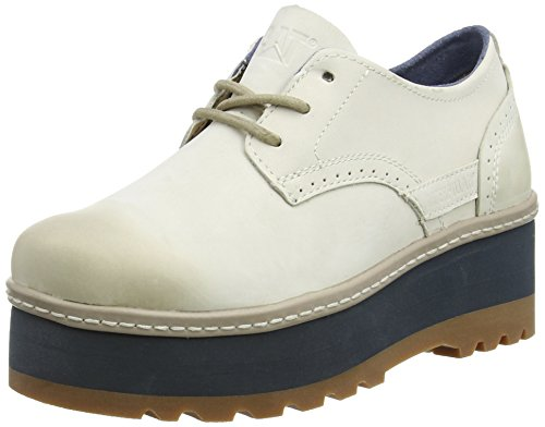 CaterpillarAMBITION - Zapatos Planos con Cordones Mujer, Color Blanco, Talla 35.5: Amazon.es: Zapatos y complementos