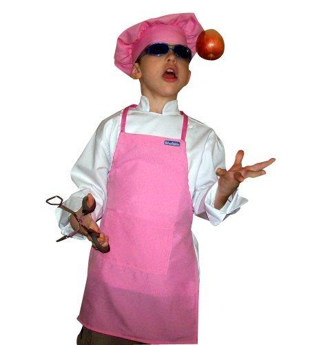 CHEFSKIN Kids Pink Mushroom Puffy Chef Hat