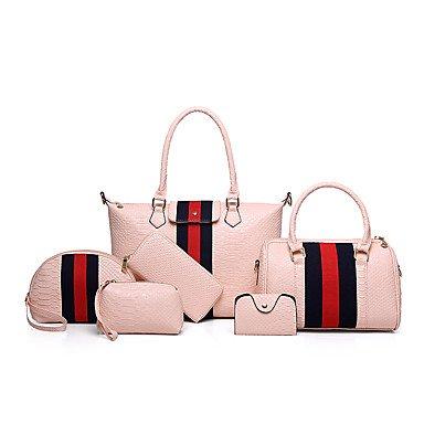 Las mujeres de moda clásica bolsa Crossbody,púrpura Blushing Pink