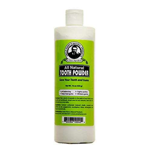 Uncle Harry's Natural Tooth Powder (16 oz)