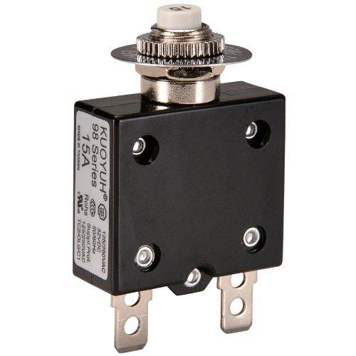 NTE Electronics R58-15A Series R58 Thermal Circuit Breaker, 250