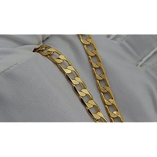 8894279d2f1f hanessa Hombre de joyas de oro Collar de cadena chapado en oro regalo para  el matrimonio