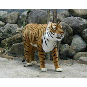 Amazon Com Hansa 70 Life Size Standing Tiger Stuffed Animal Toys