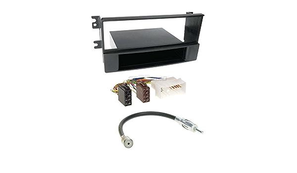 Kia Sorento 06 – 09 de 1 DIN para Radio de Coche Set en Original Plug & Play Calidad con Antena Adaptador, Radio Cable de conexión, Accesorios y ...