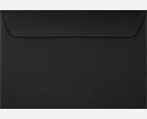 Black Linen 6 x 9 Booklet Envelopes (Pack of 50)