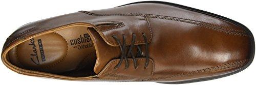 Tilden Walk, Zapatos de Cordones Derby para Hombre, Marrón (Dark Tan Lea), 43 EU Clarks