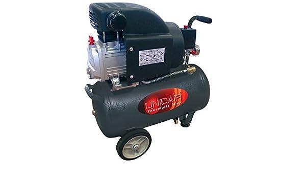 Compresor de aire UNICAIR CD-2/24L. 24 litros 2 HP: Amazon.es: Bricolaje y herramientas