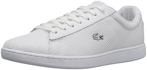 Lacoste Women's Carnaby Evo 416 1 Spw Fashion Sneaker, White, 7.5 M US