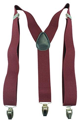 carreaux Bretelles Uni Dans 35mm couleurs Couleurs 3 Y Avec Femmes Alex neon Pour Bordeaux Designs Large homme Flittner 15 Clips EpvUx6nq