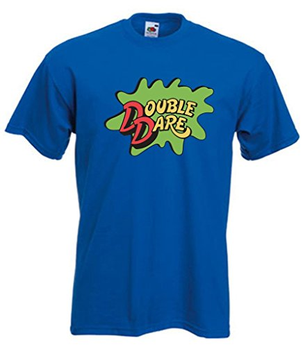 BLUE Double Dare Logo Nickelodeon T-Shirt ADULT SMALL ()