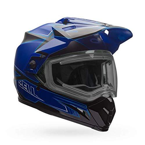 Blue Dual Shield - Bell MX 9 Adventure Dual Shield Snow Helmet (Matte/Gloss Blue, XXL)
